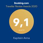 9.1 Traveller Review Awards 2020 Booking.com
