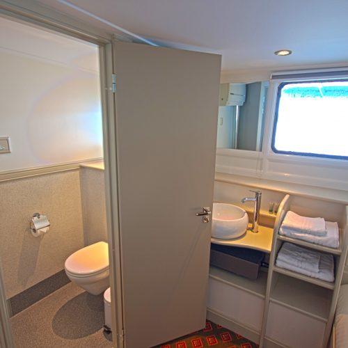 Het sanitair zoals in elke hut aanwezig